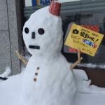 暴風雪被害で社長が朝から向かった現場&雪だるまの件