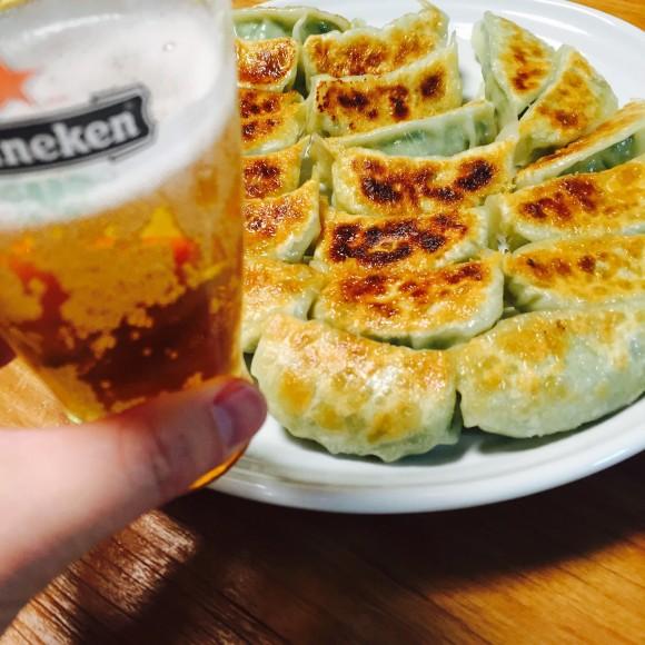 餃子&ビール