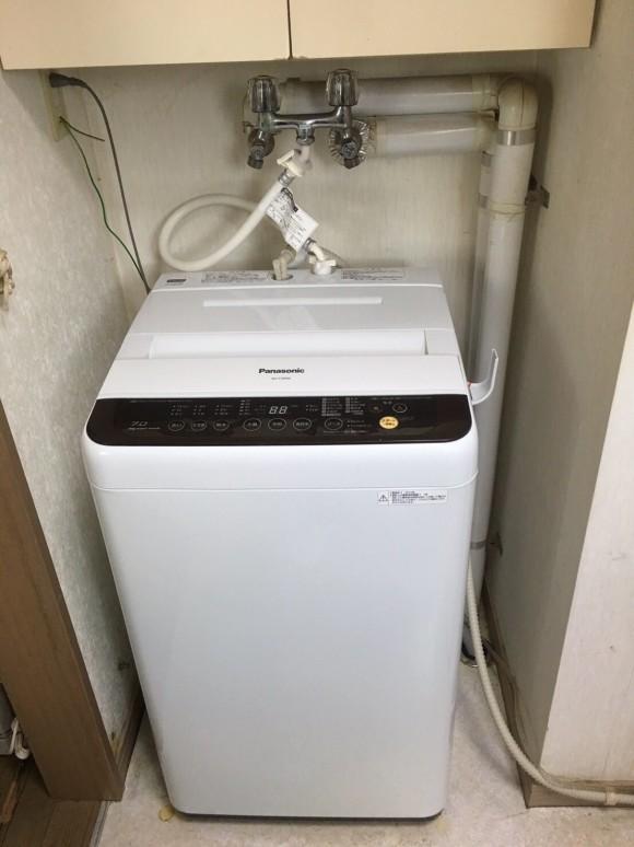 設置後の洗濯機