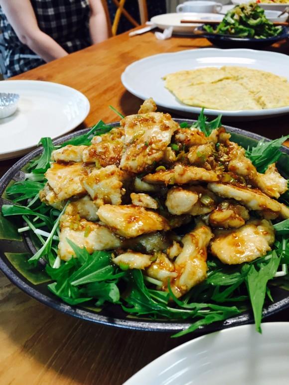 塩麹でやわらか鶏胸肉の油淋鶏風