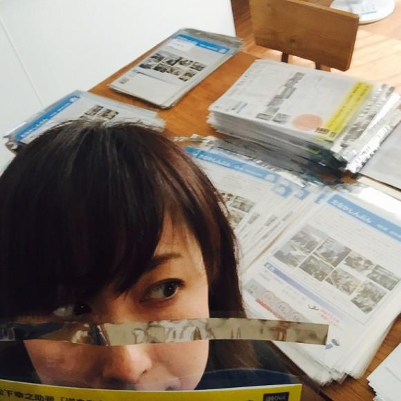 こういう袋に入れて封をして宛名シール貼っていました