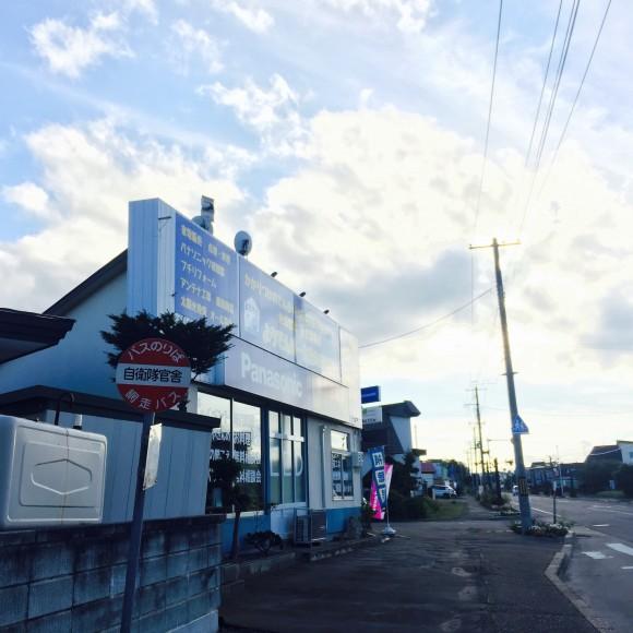 当店前のバス停