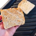 Panasonicオーブンレンジ「ビストロ」でトーストを焼くとこんな感じになります