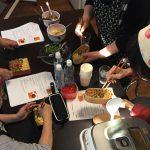 ラぺもごぼうも三色弁当もスープも大好評で10月のお料理教室が終りました。
